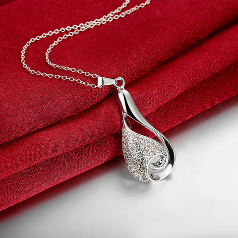 Swirl Zirconia Necklace