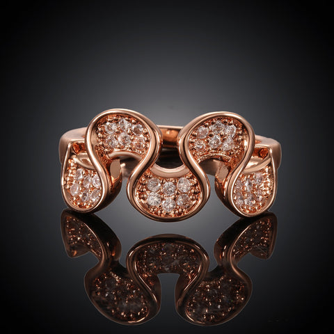 Wavy Rose Gold Plated Ring
