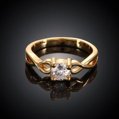 Twist Gold Plated Ring