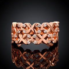 Macrame Stacking Rose Gold Plated Ring
