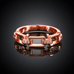 Rock Stack Rose Gold Plated Ring