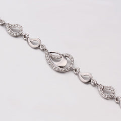 Spring Water Drop White Gold Bracelet