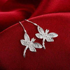 Dragonfly Silver Earrings