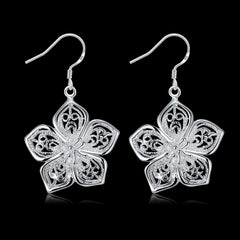 Flower Silver Earrings