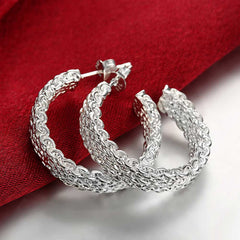 Silver Weaving Earrings