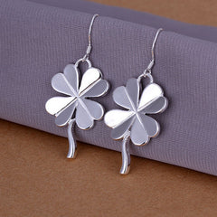 Clover Silver Earrings