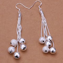 Five Sandy Light Silver Earring