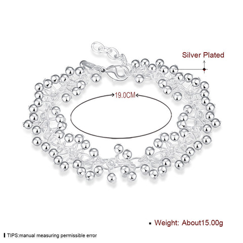Lightweight Grape Silver Bracelet