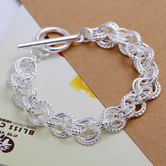Family Connecting Silver Bracelet