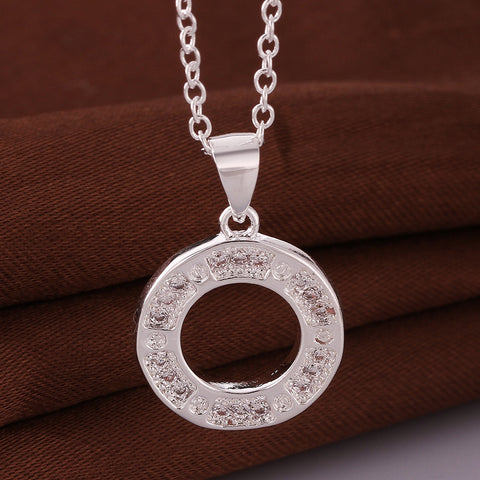 Classic Circle Silver Necklace