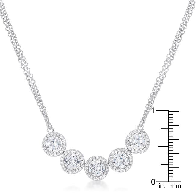 5 Ct Dazzling Rhodium Necklace with CZ