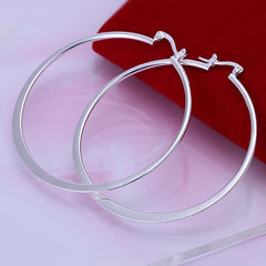 Oblate Silver Earrings