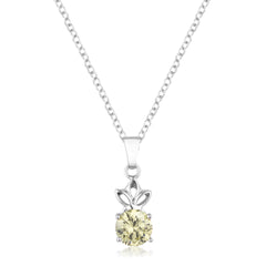 8mm Round Cut Jonquil Cubic Zirconia Fashion Pendant
