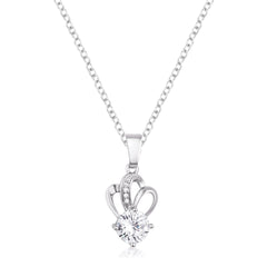 7mm Clear Cubic Zirconia Fashion Pendant