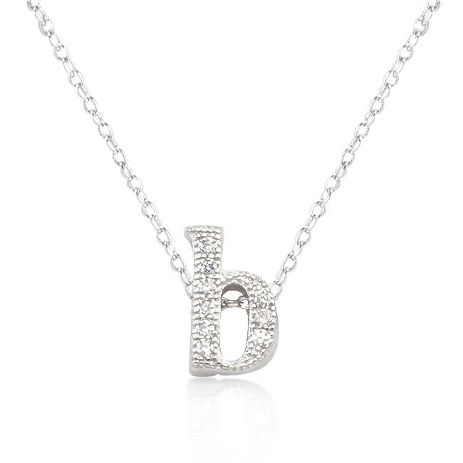 Micro-Pave Initial B Pendant