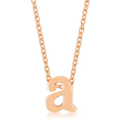 Rose Gold Finish Initial A Pendant