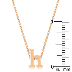 Rose Gold Finish Initial H Pendant