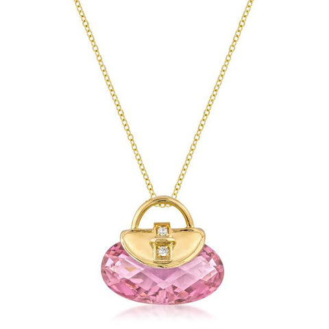 Golden Handbag Pendant