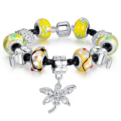 Butterfly Yellow Charm Bracelet