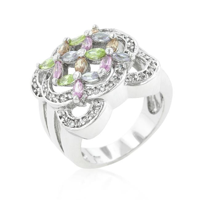 Filigree Floral Crest Ring