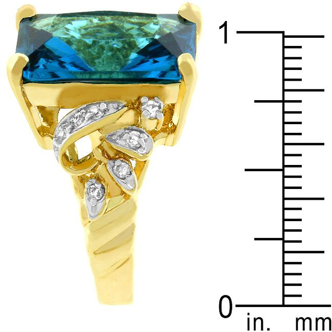 Blue Lagoon Cocktail Ring