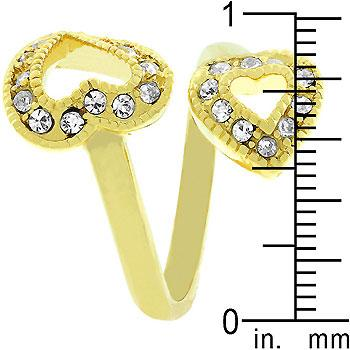 Dual Pave Hearts Ring