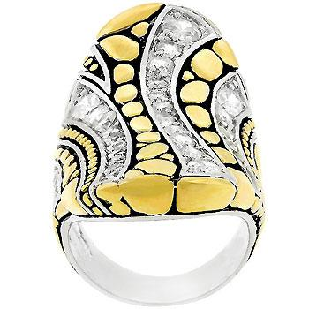 Abstract Cobblestone Ring