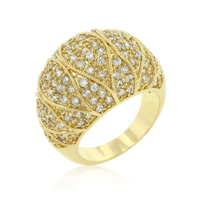 Goldeneye Clear Cubic Zirconia Cocktail Ring