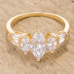 Marquise Triplet Engagement Ring