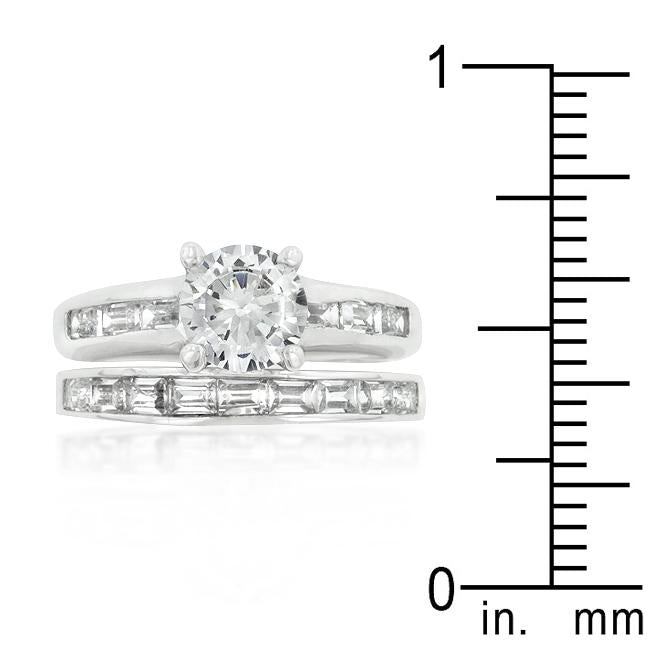 Rhodium Plated Stackable Ring Set