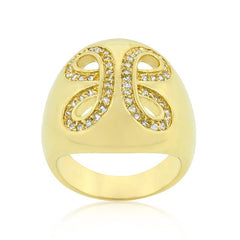 Golden Ribbon Cocktail Ring