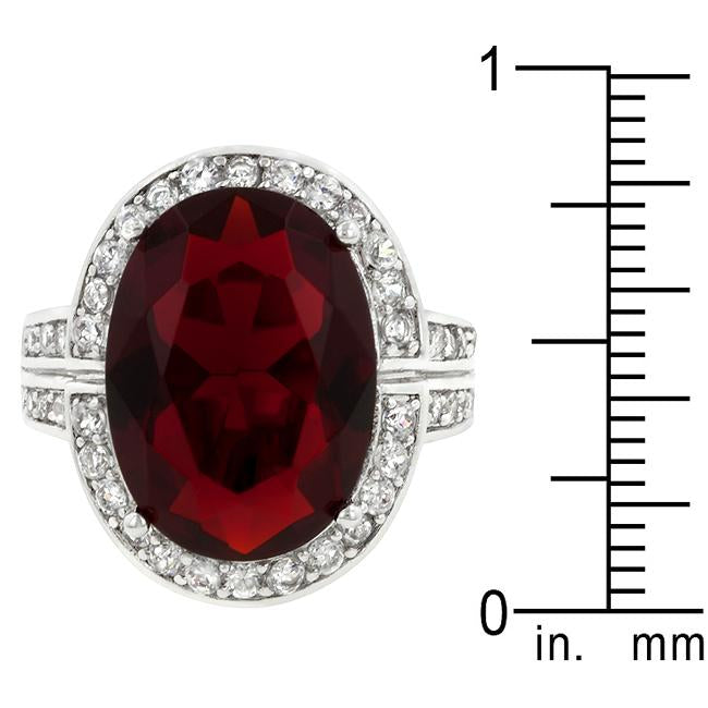 Ruby Red Cocktail Ring