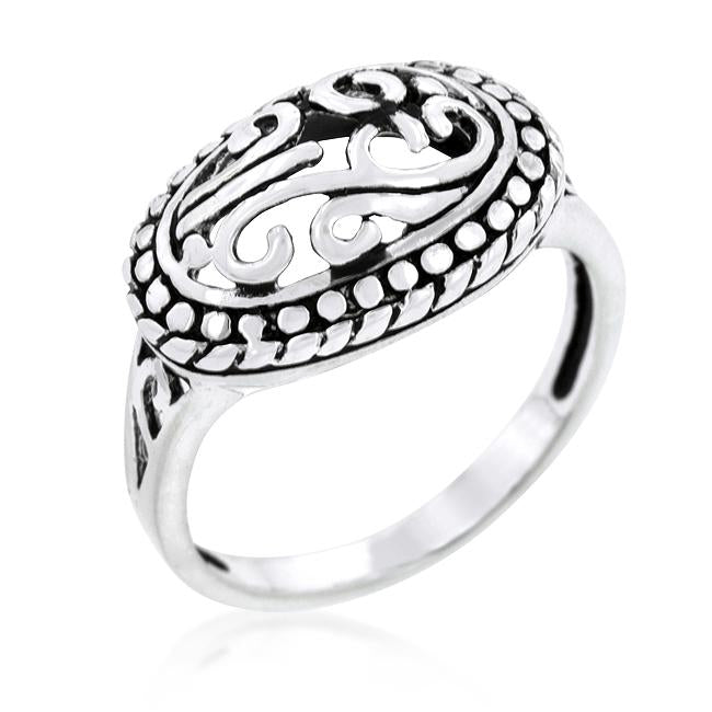 Antique Filigree Crest Ring