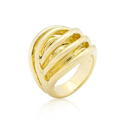 Golden Illusion Fashion Ring