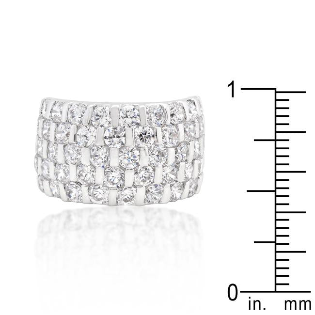 Channel Set Princess Cut Ring