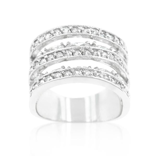 Cubic Zirconia Tiered Ring