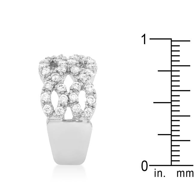 Braided CZ Cocktail Ring