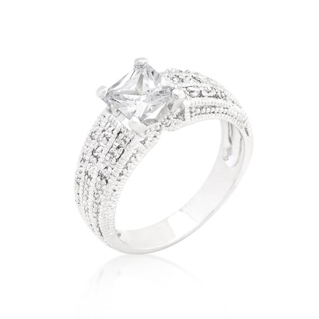 Cubic Zirconia Princess Cut Ring