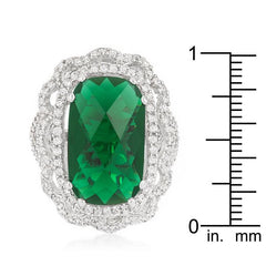 Green Cocktail Crest Ring