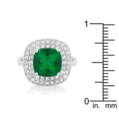 Green Bridal Cocktail Ring