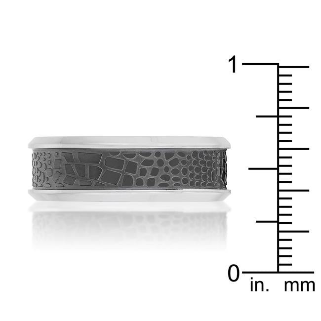 Band Ring with Animal Print Detail