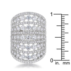 Charlyn 2.5ct Rhodium CZ Statement Cocktail Ring