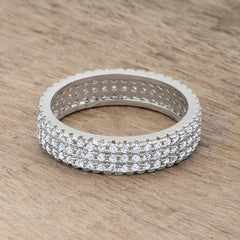 Chare 1.3ct CZ Rhodium Classic Band Ring