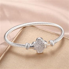CZ Winged Bangle