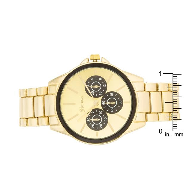 Chrono Gold Metal Watch