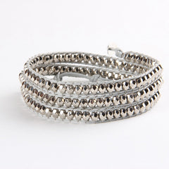Silver Nugget Mix Wrap Bracelet