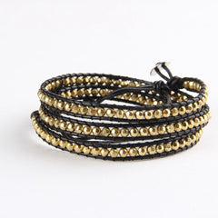 Gold Nuggets Wrap Bracelet