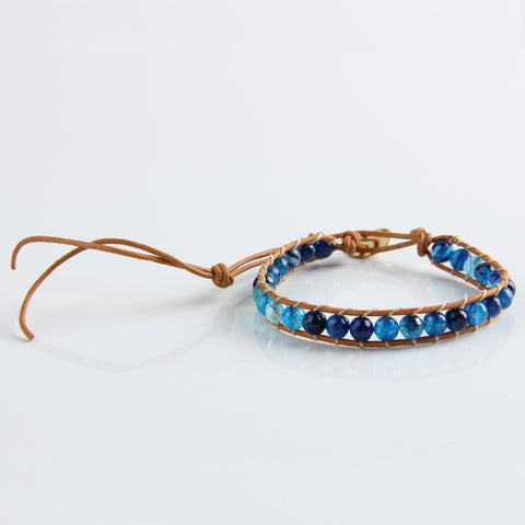 Blue Mix Wrap Bracelet