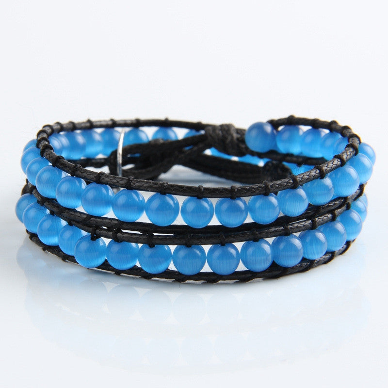 Light Blue Opal Wrap Bracelet