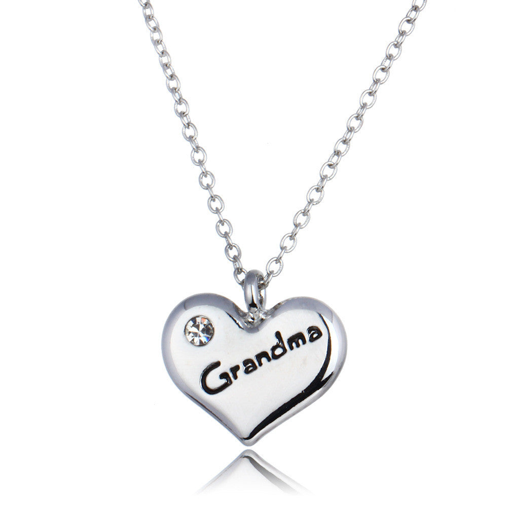 Grandma Heart Pendant Necklace